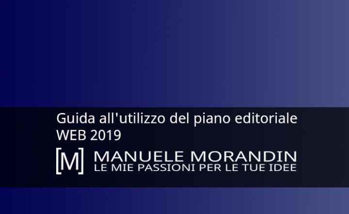 Guida all'utilizzo del piano editoriale WEB 2019