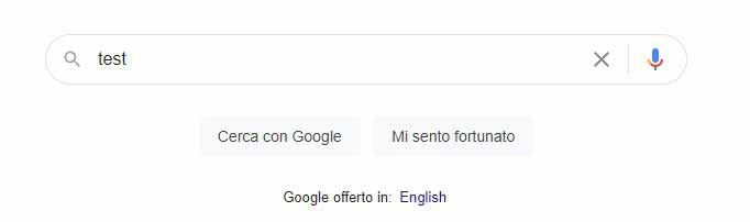 Box ricerca Google